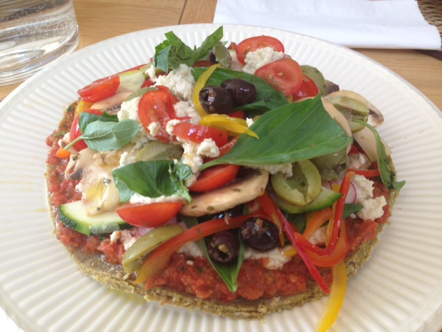 Amazing healthy pizza